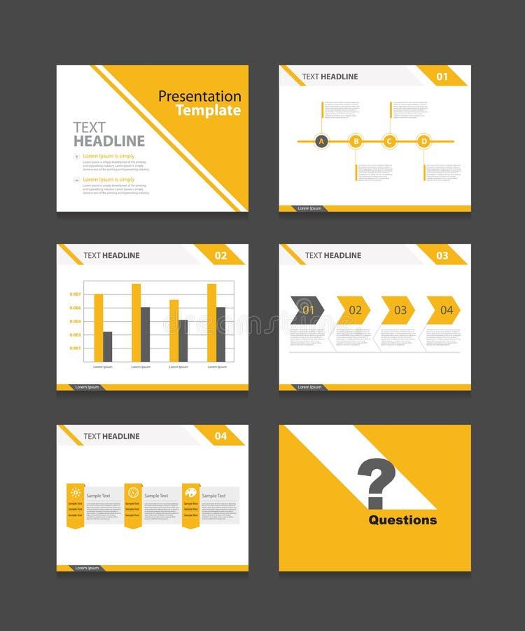 Комплект шаблона представления корпоративного бизнеса предпосылки дизайна шаблона PowerPoint иллюстрация вектора