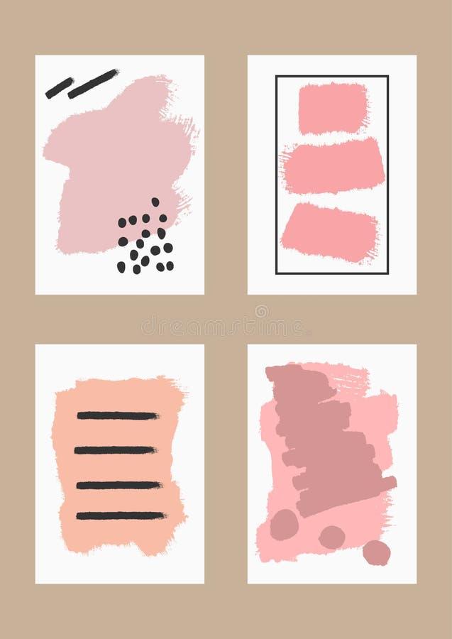 Комплект шаблонов для дизайна рогулек, открыток, крышек, знамен иллюстрация вектора