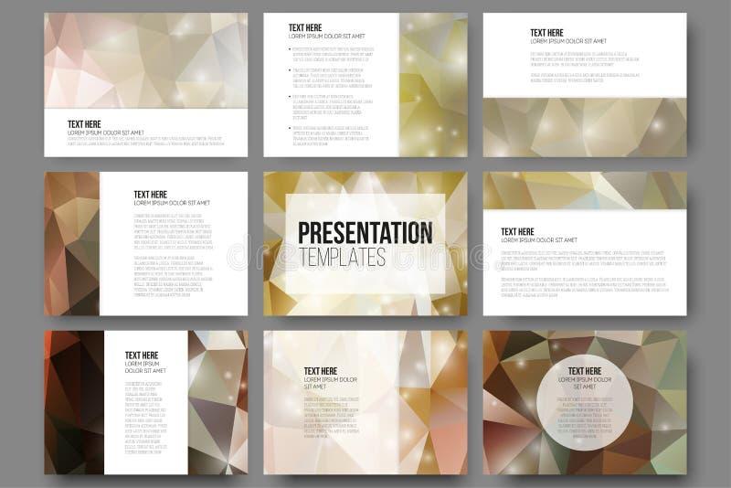 Комплект 9 шаблонов для скольжений представления brougham иллюстрация штока