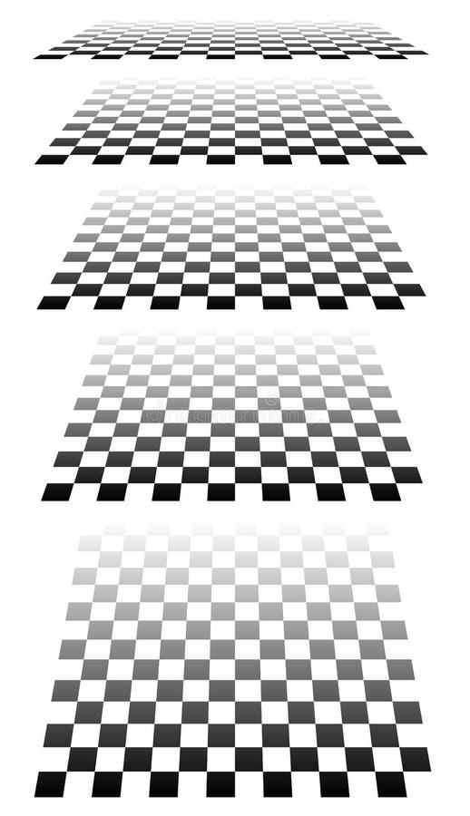 Download Комплект шахмат, Checkered доск в перспективе Иллюстрация вектора - иллюстрации насчитывающей бульвара, пусто: 81814994