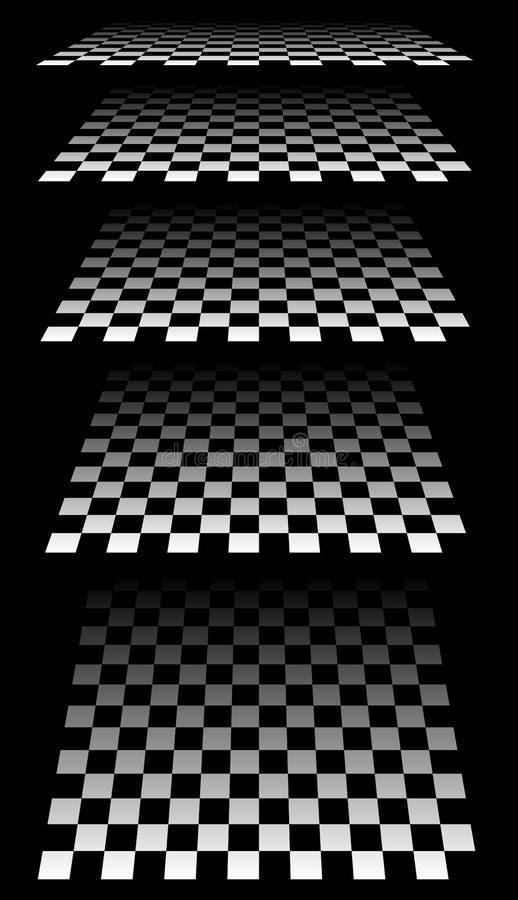 Download Комплект шахмат, Checkered доск в перспективе Иллюстрация вектора - иллюстрации насчитывающей бульвара, плоско: 81815045
