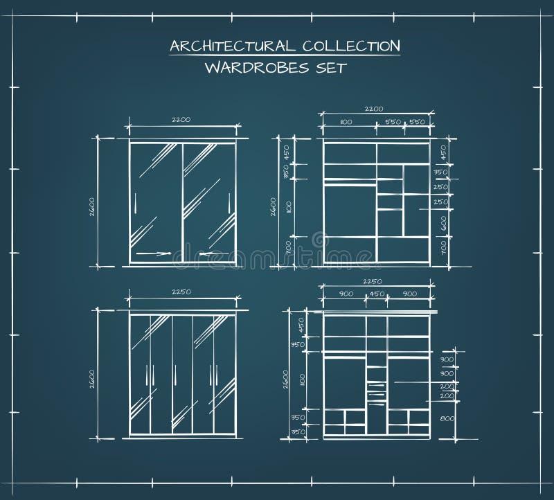 Комплект шкафов бесплатная иллюстрация