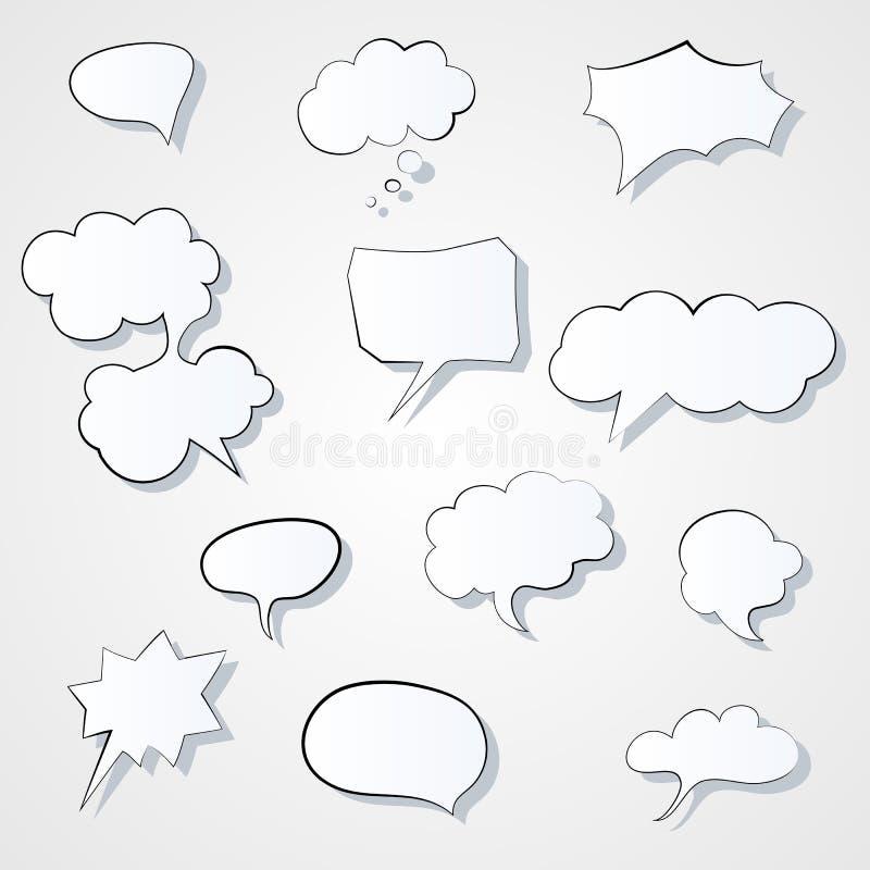 Комплект шуточного значка пузырей речи 3d Изображение Eps вектора пузыря мысли бесплатная иллюстрация