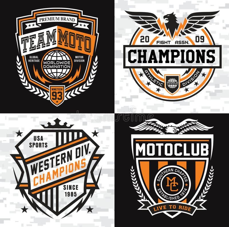 Комплект эмблемы insignia спорт бесплатная иллюстрация