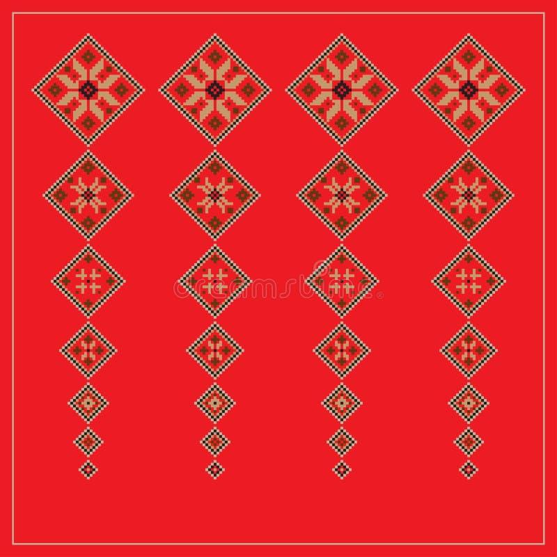 Комплект этнической картины орнамента в других цветах также вектор иллюстрации притяжки corel иллюстрация штока