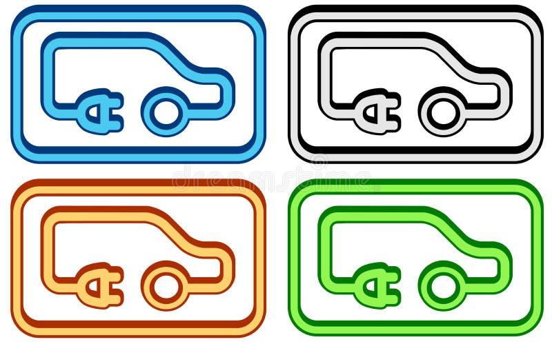 Комплект электрического автомобиля бесплатная иллюстрация
