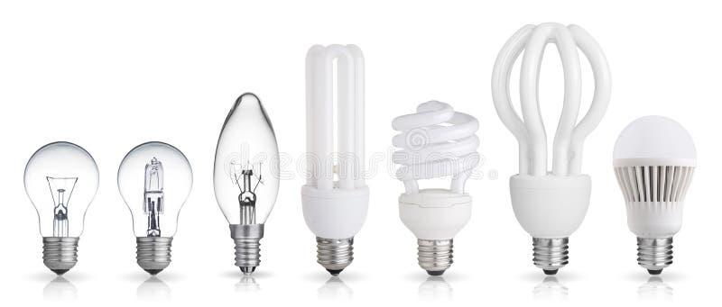 Комплект электрической лампочки стоковое фото rf