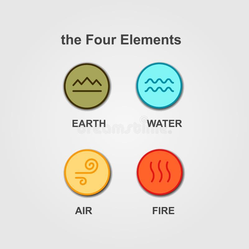 Комплект 4 элементов вектора стоковое фото