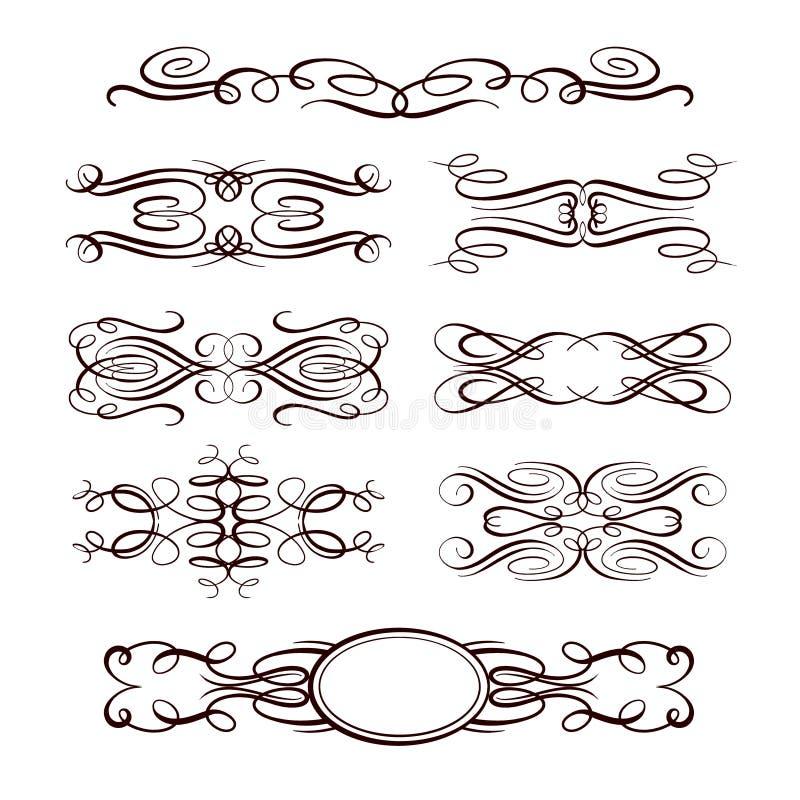 Комплект элементов дизайна векторной графики иллюстрация штока