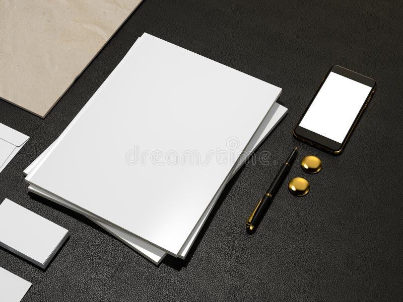 Комплект элементов идентичности и пустой кассеты иллюстрация вектора
