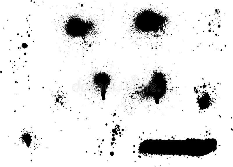Комплект элементов 02 краски для пульверизатора бесплатная иллюстрация