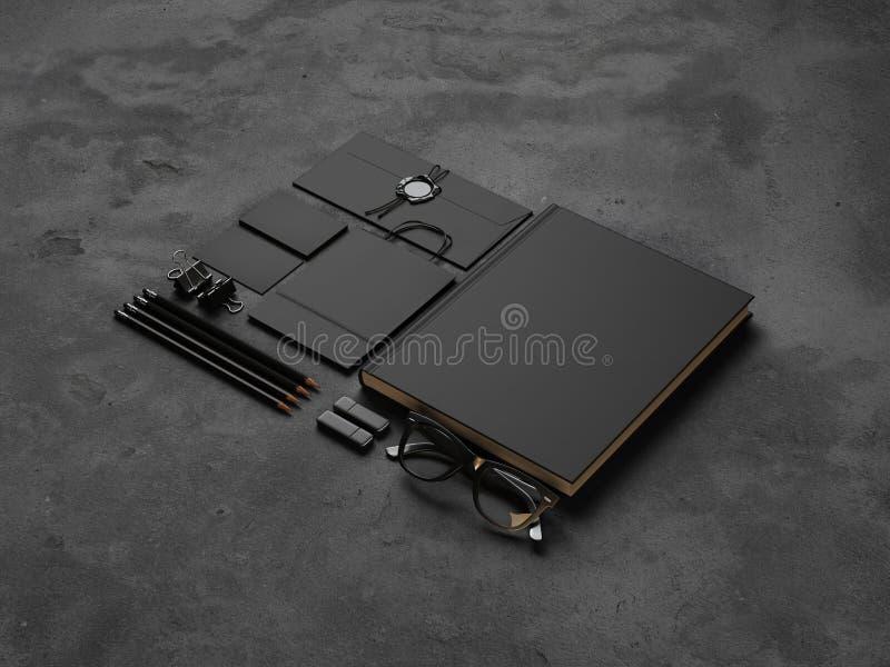 Комплект элементов модель-макета на конкретной предпосылке стоковые изображения rf