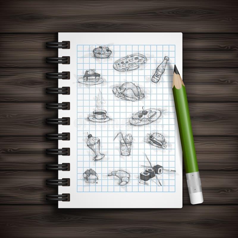 Комплект элементов нарисованных рукой различных иллюстрация штока