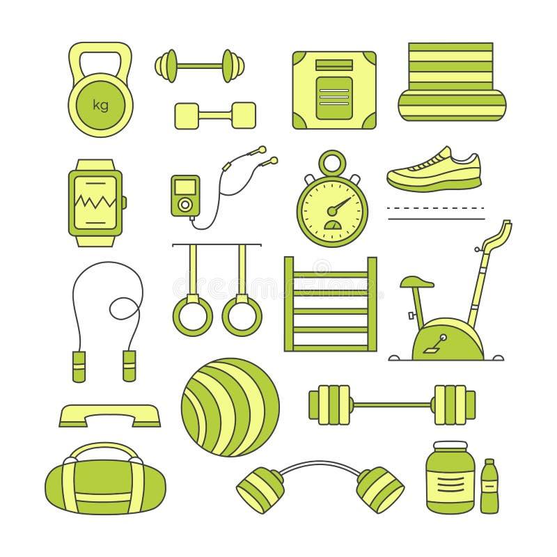 Комплект элементов спорт иллюстрация штока