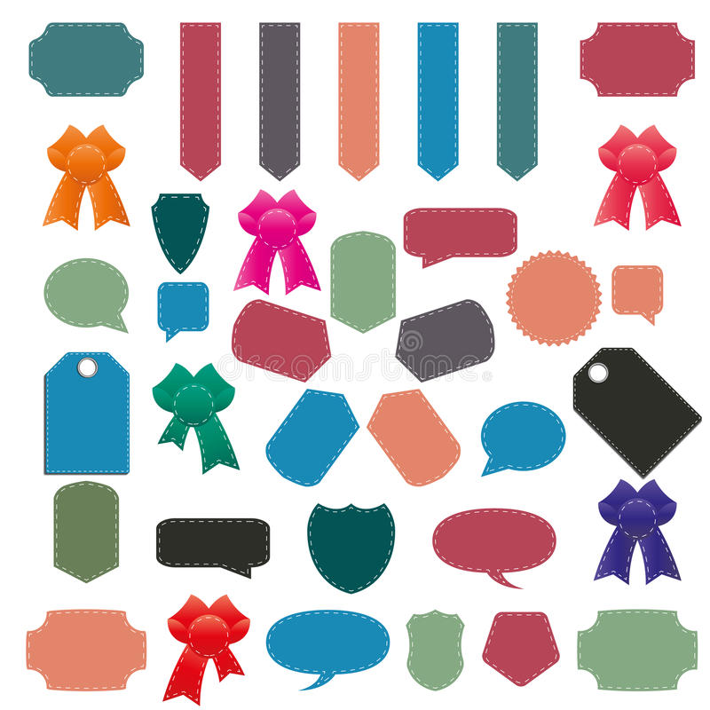 Комплект элементов для дизайна, иллюстрации вектора иллюстрация штока