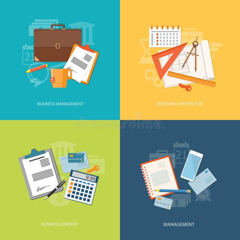Комплект элементов для содержания образования, дела, маркетинга бесплатная иллюстрация