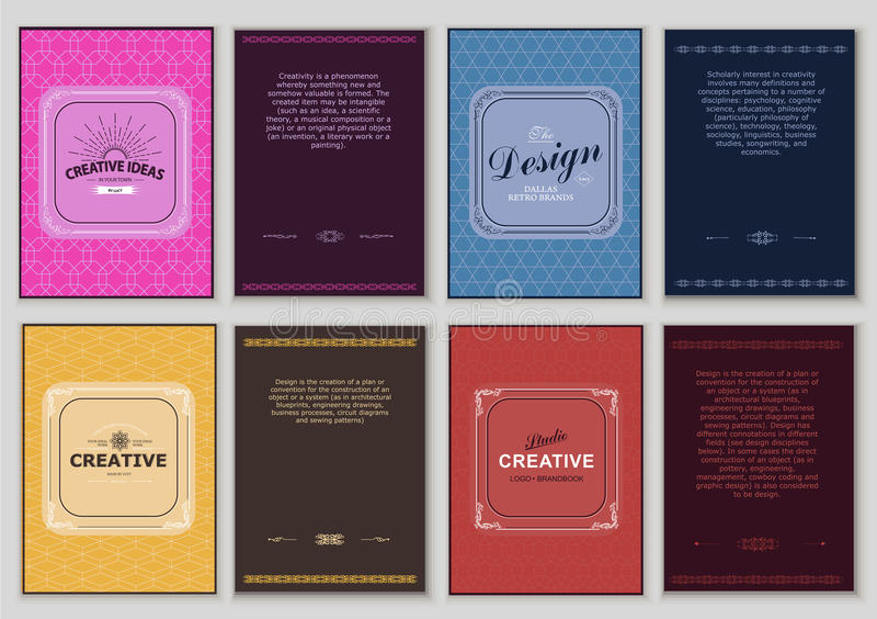 Комплект ярких винтажных ярлыков бесплатная иллюстрация