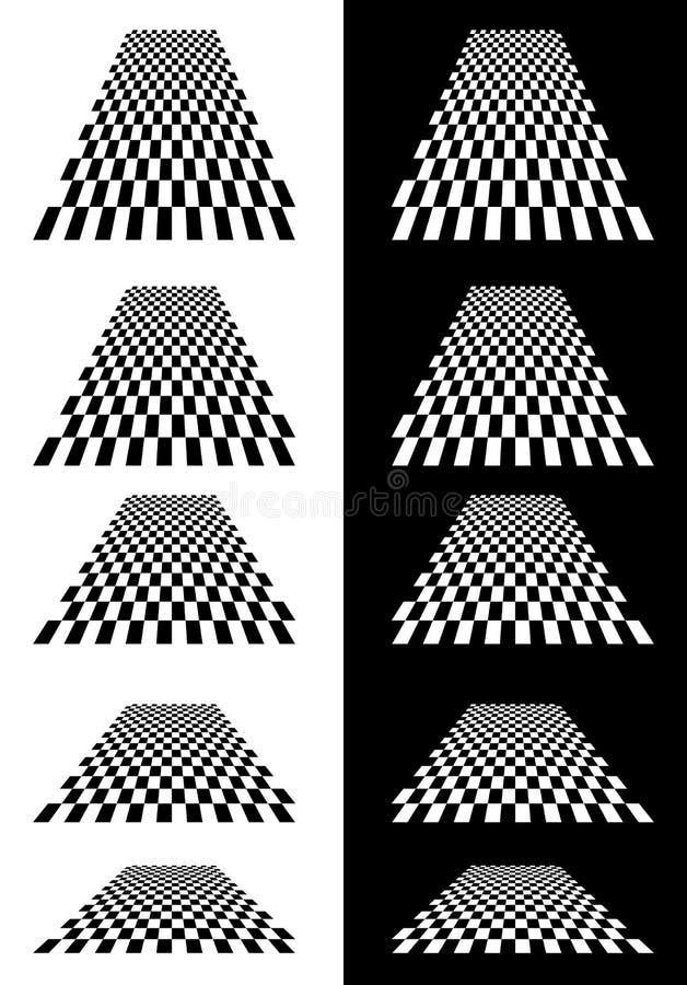 Download Комплект Checkered самолетов в перспективе Иллюстрация вектора - иллюстрации насчитывающей форма, минимально: 81814899