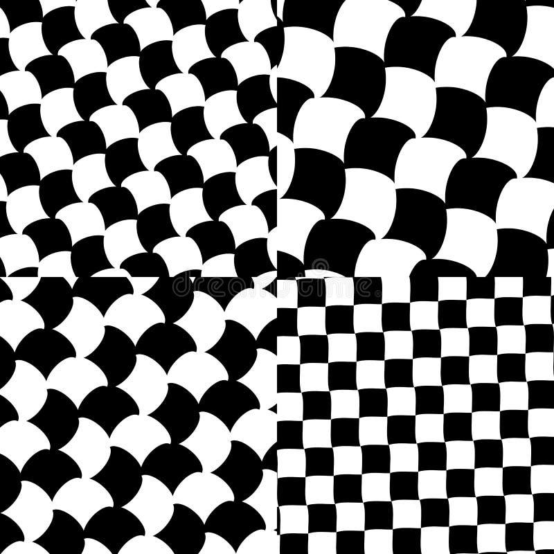 Download Комплект Checkered/черно-белых картин Иллюстрация вектора - иллюстрации насчитывающей минимально, хитроумного: 81814757