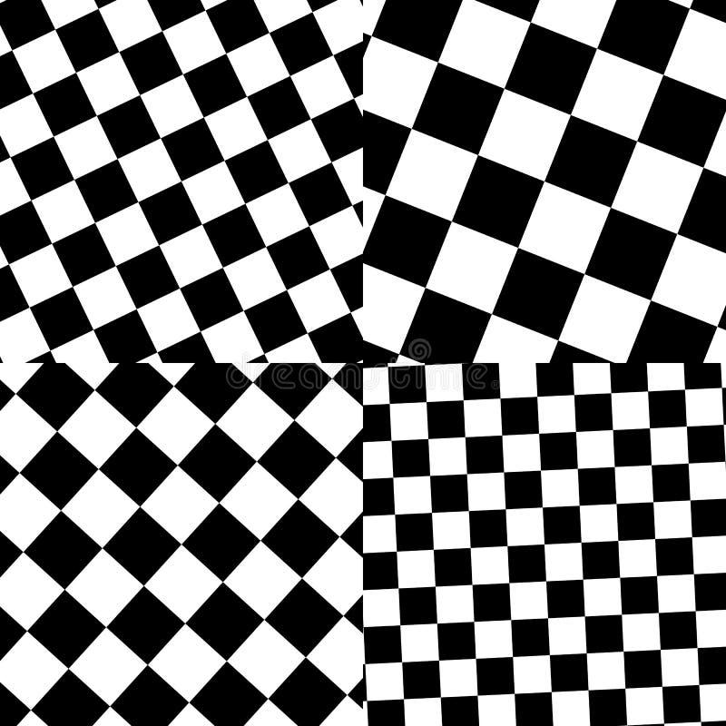 Download Комплект Checkered/черно-белых картин Иллюстрация вектора - иллюстрации насчитывающей земля, monochrome: 81814968