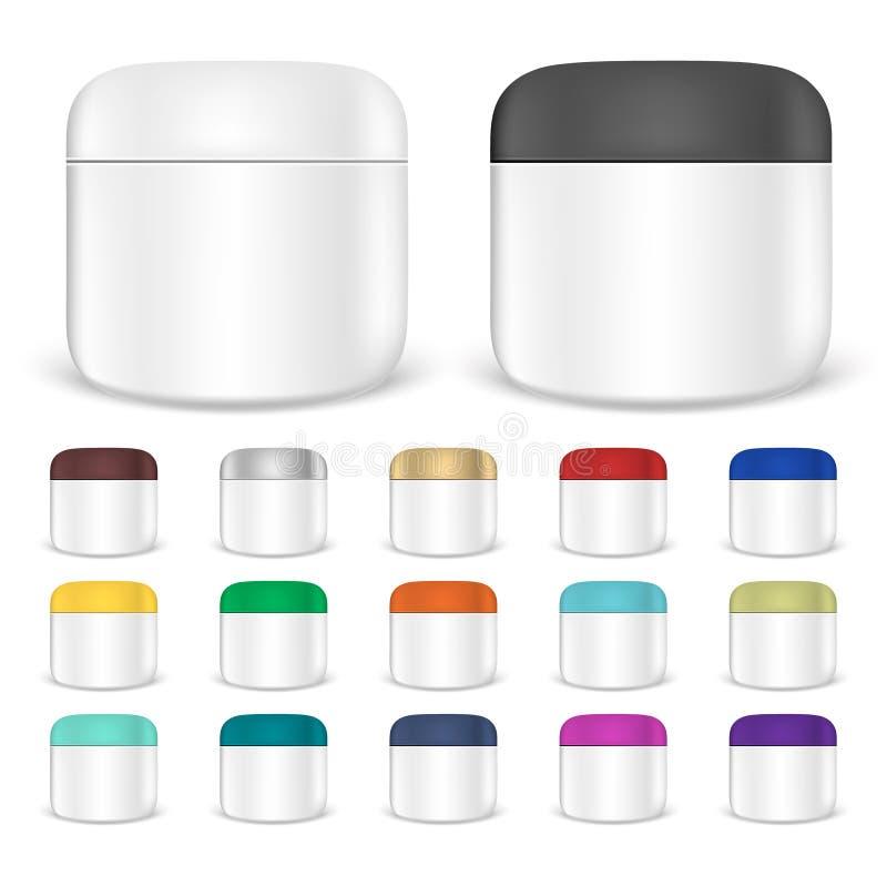 Комплект cream модель-макетов опарника бесплатная иллюстрация