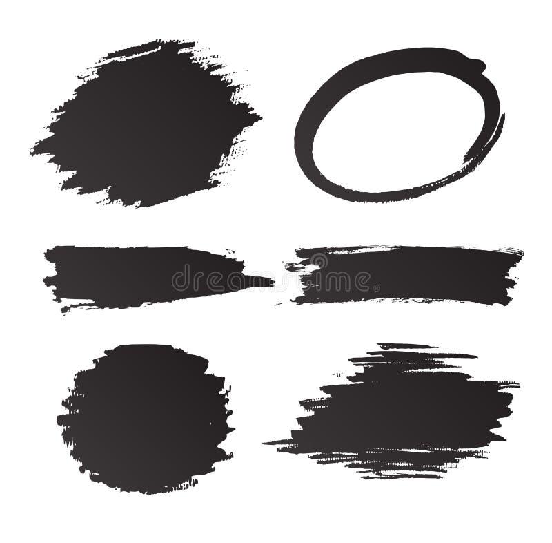 Комплект grunge и чернил бесплатная иллюстрация