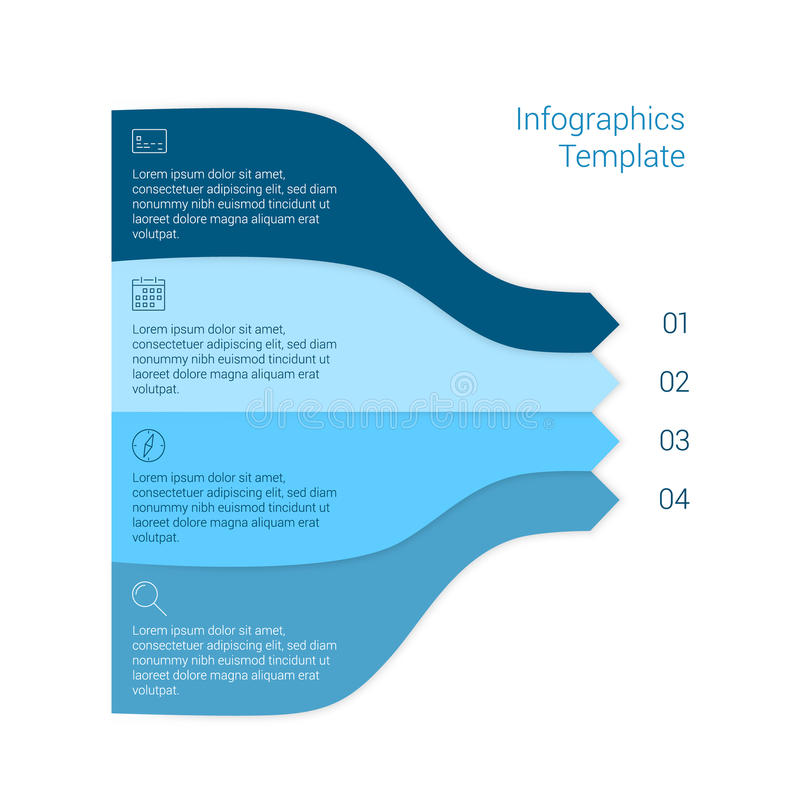 Комплект infographic планов шаблона График течения бесплатная иллюстрация