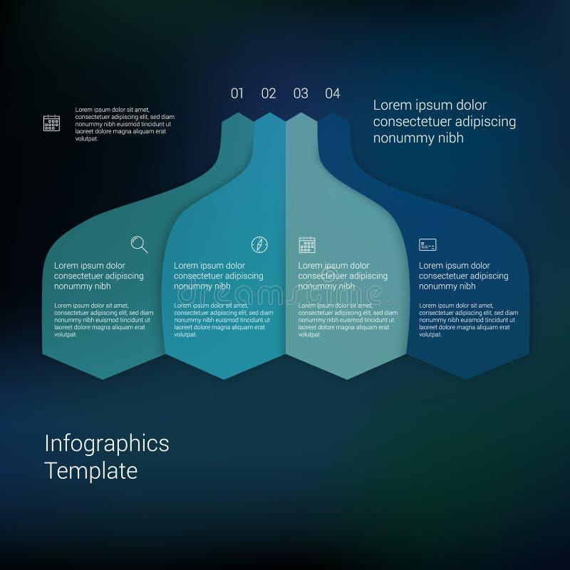 Комплект infographic планов шаблона График течения иллюстрация штока
