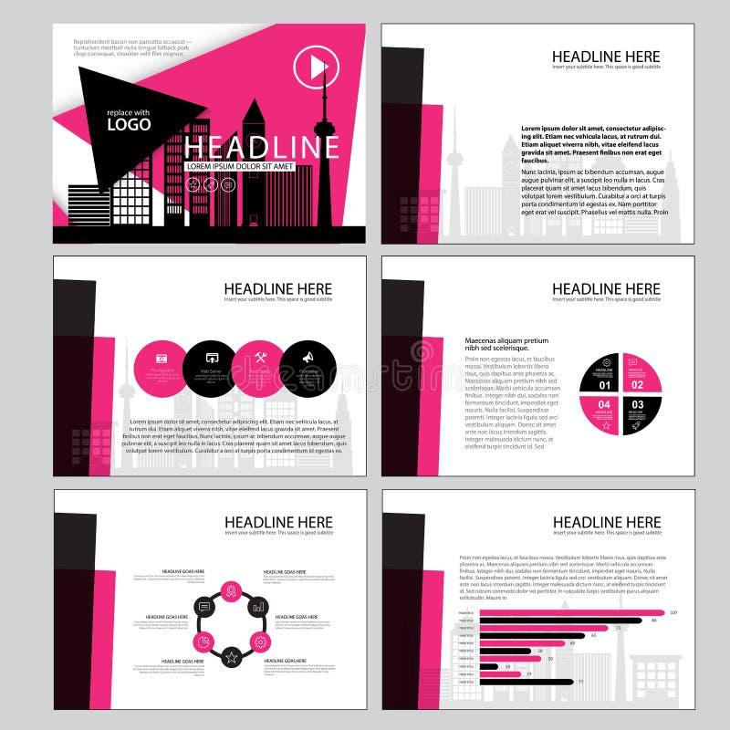 Комплект infographic шаблона представления, элемента Infographic, дела infographic, дизайна плана, современного стиля иллюстрация штока