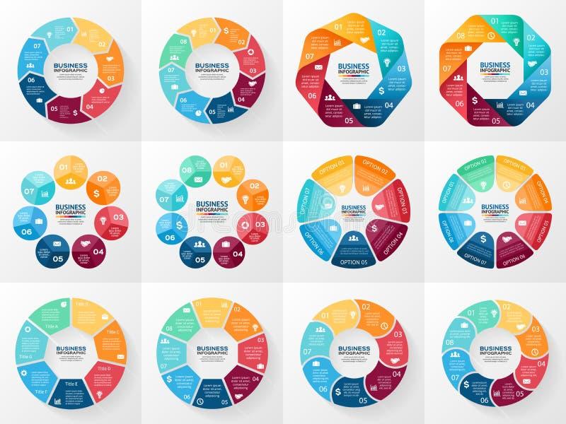 Комплект infographics вектора Собрание шаблонов иллюстрация штока