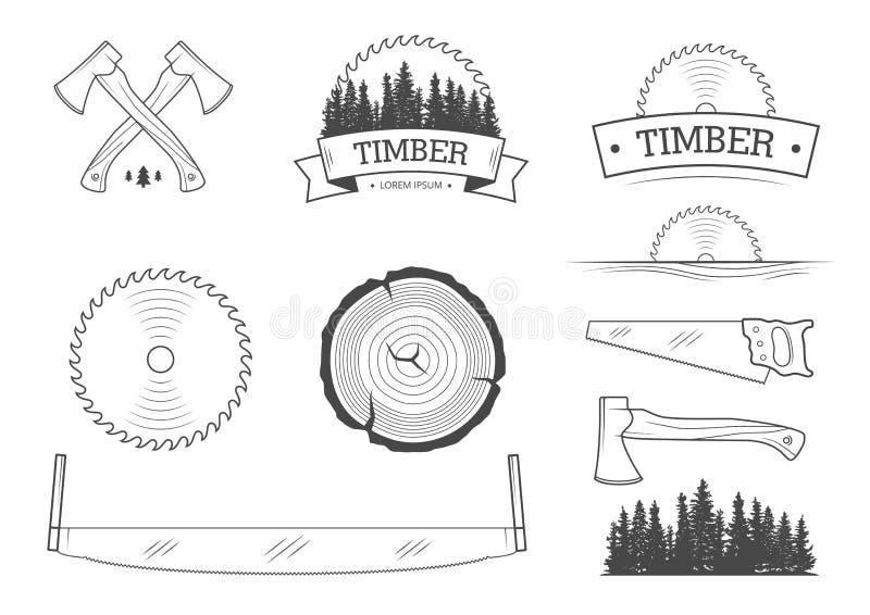 Комплект Lumberjack иллюстрация вектора