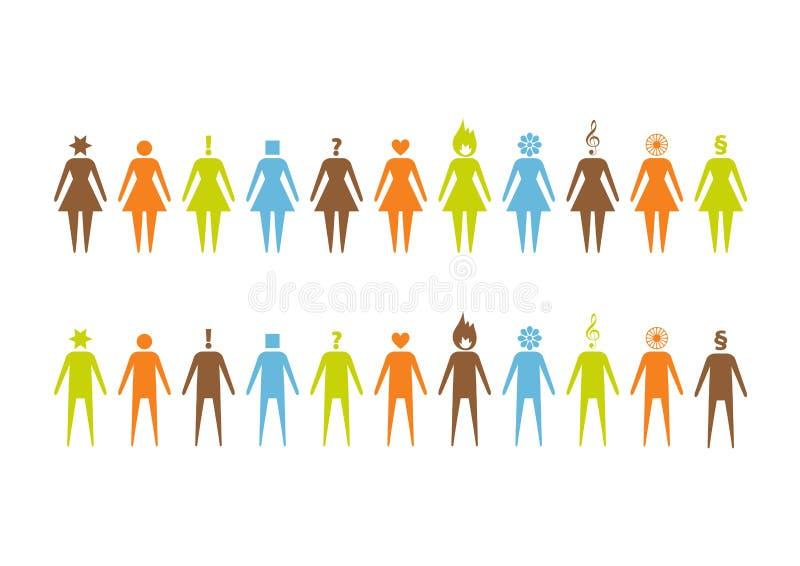 Комплект pictographs людей бесплатная иллюстрация