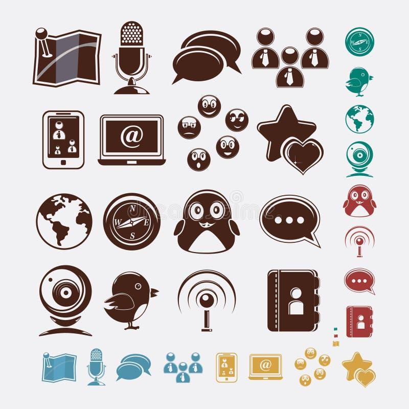Комплект Social икон бесплатная иллюстрация