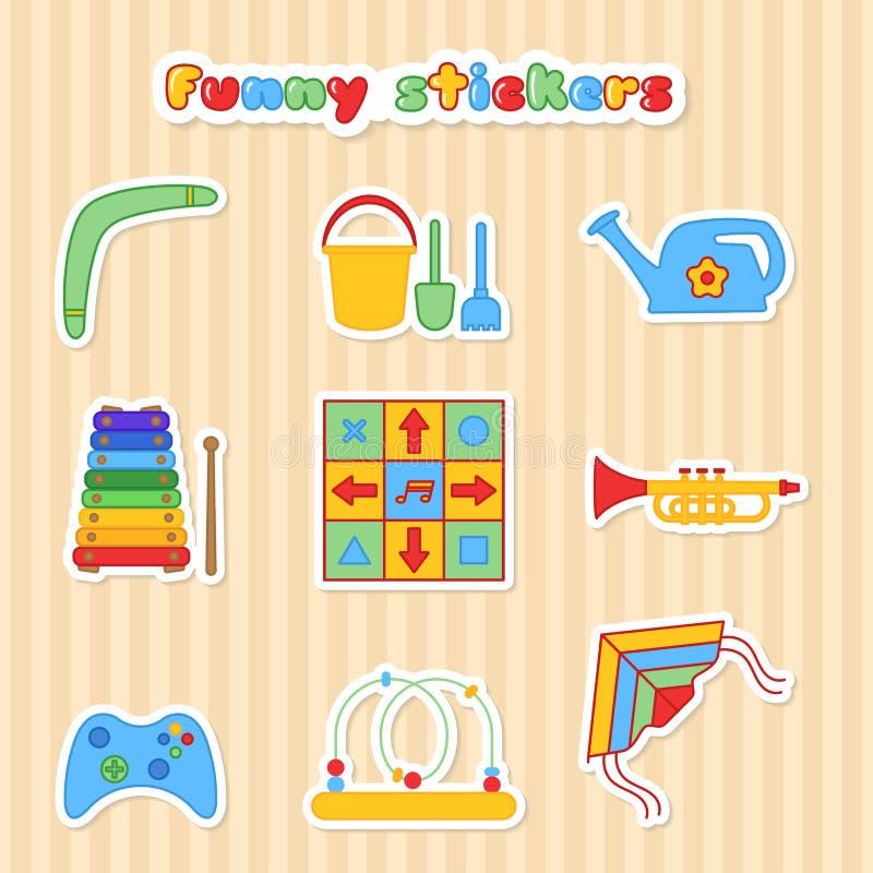 Комплект stikers детей бесплатная иллюстрация