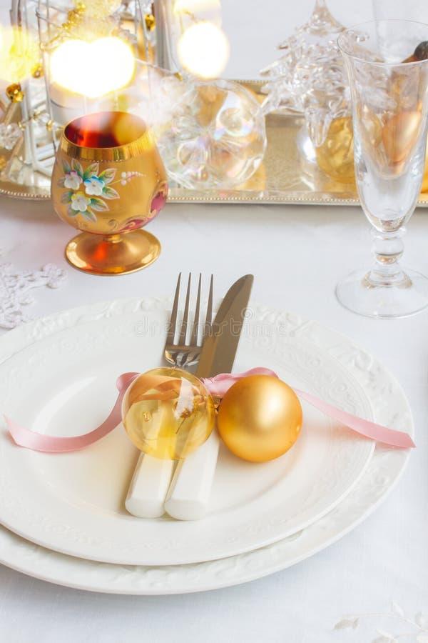 Комплект Tableware рождества стоковые изображения rf