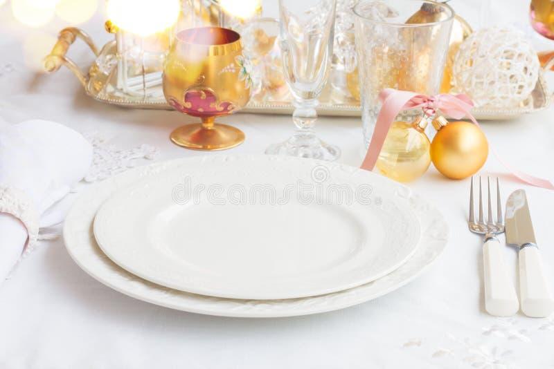 Комплект Tableware рождества стоковые фотографии rf