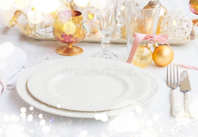 Комплект Tableware рождества стоковое изображение rf