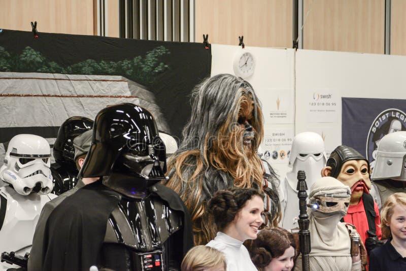 Конвенция Sci fi в Гётеборге прогулка вокруг стоковое изображение