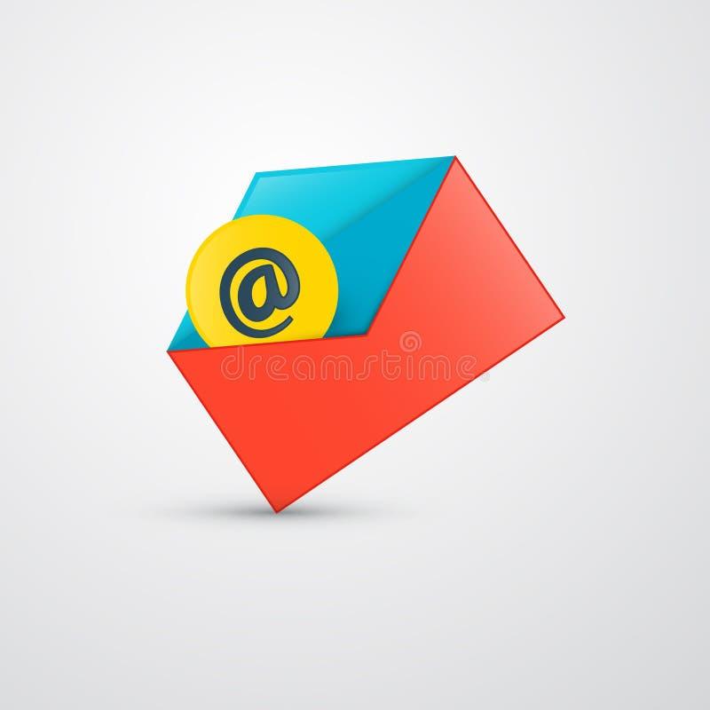 Конверт вектора - значок электронной почты иллюстрация штока