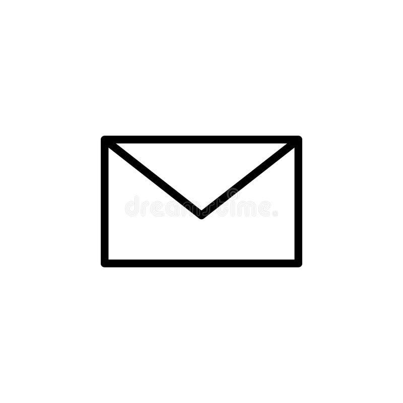 Конверт, значок почты Смогите быть использовано для сети, логотипа, мобильного приложения, UI, UX иллюстрация вектора