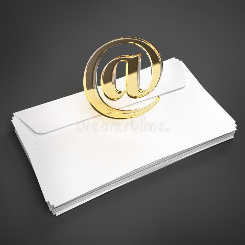 Конверт с знаком электронной почты иллюстрация штока