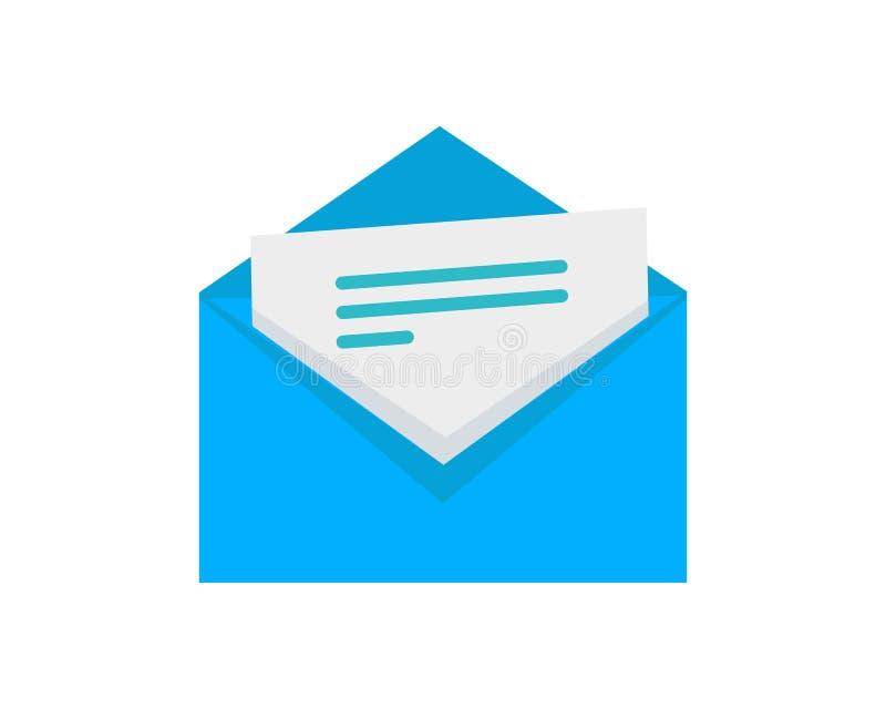 Конверт с значком вектора стиля письма плоским бесплатная иллюстрация