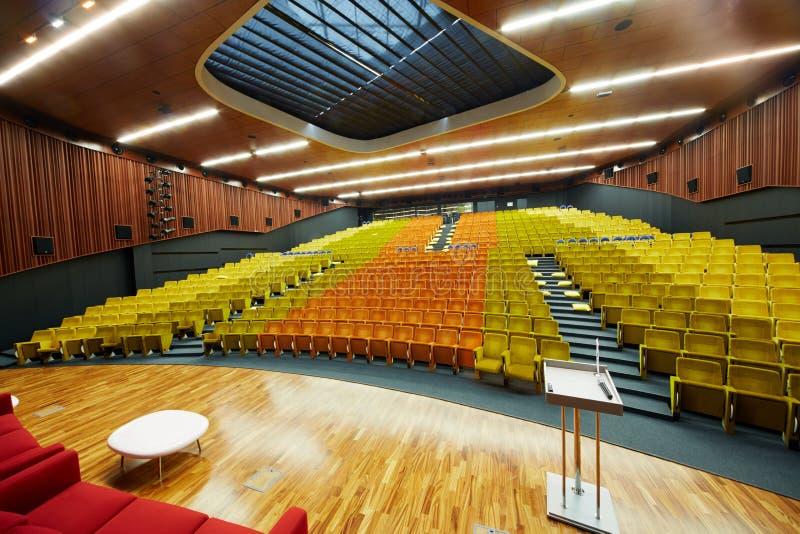 Конгресс-зала школы Москвы управления SKOLKOVO стоковая фотография rf