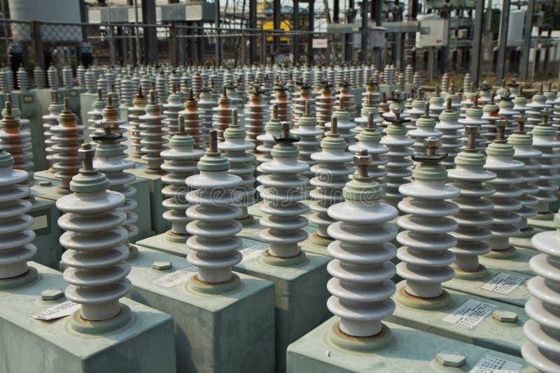 конденсатор банка стоковая фотография rf
