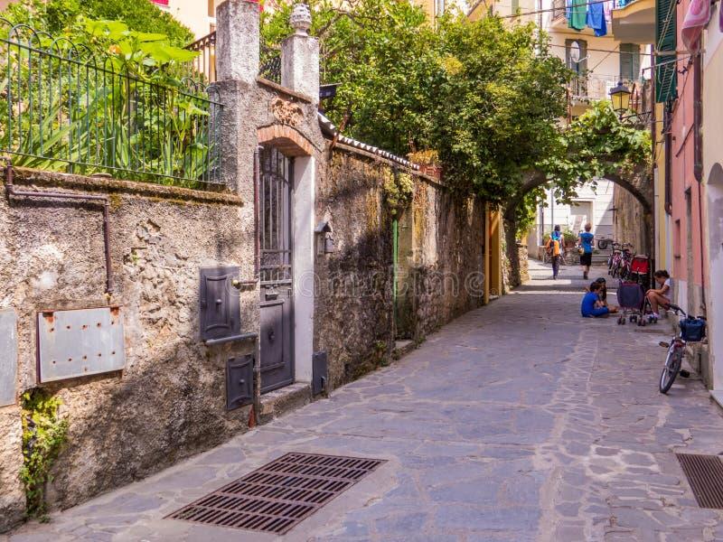 Конематка al Monterosso, старый городок стоковое изображение