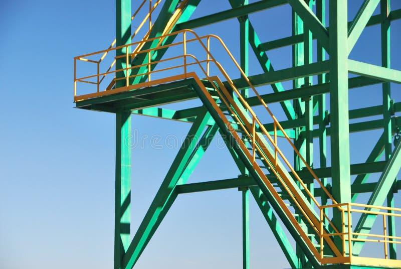 Конец-вверх башни металла стоковые фотографии rf