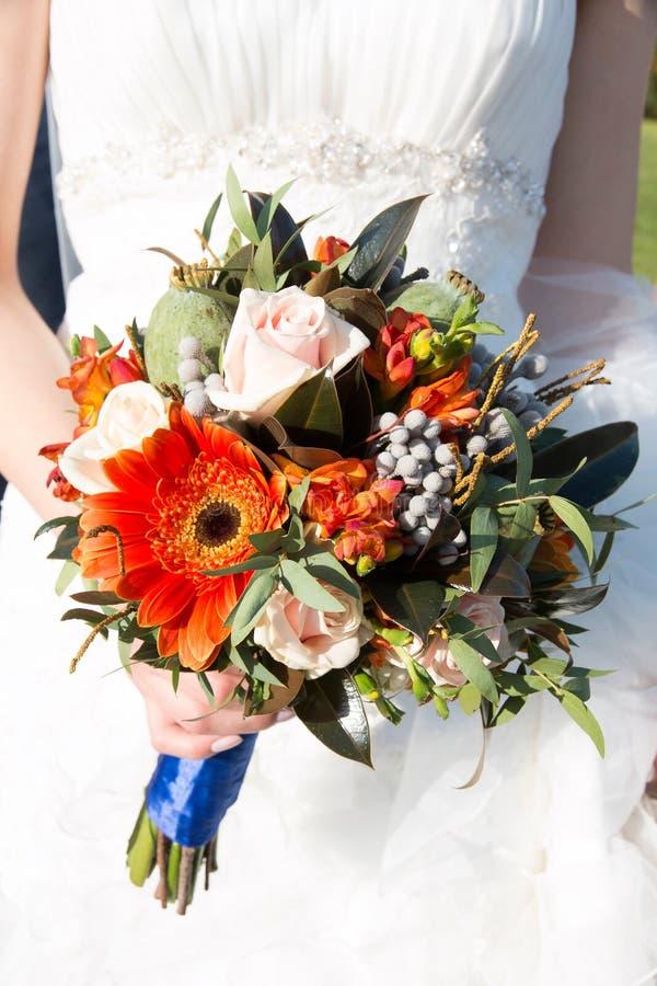 Конец-вверх букета свадьбы осени стоковое фото