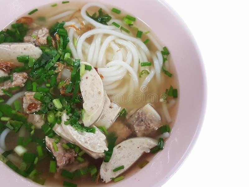 Конец-вверх, въетнамский традиционный стиль еды: Рис запасных нервюр свинины стоковые изображения rf