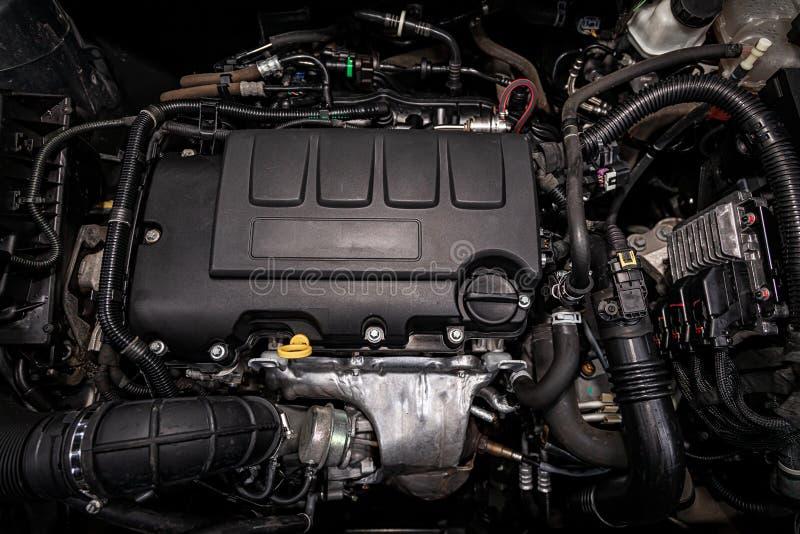 Конец-вверх двигателя стоковое фото