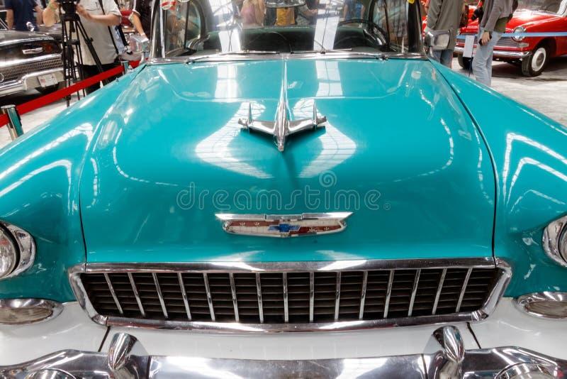 Конец вверх изображения запаса Шевроле Bel Air винтажного автомобильного стоковые изображения rf